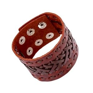 Braided Western Country Leather Cuff Bracelet NEW